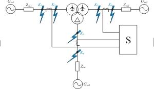 Эквивалентная схема проверки дифференциальных защит трансформаторов